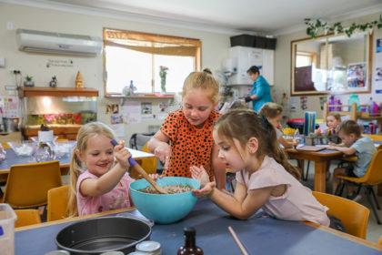 Baking time at Medowie Gumnut Preschool